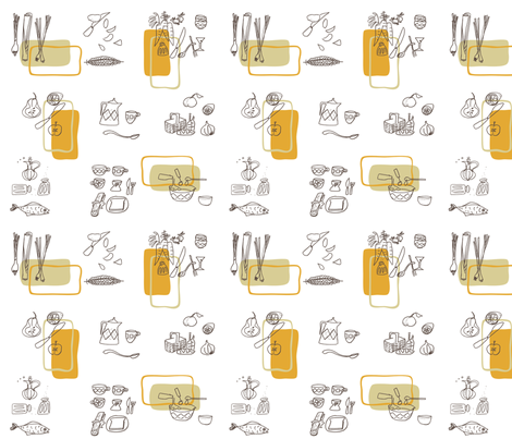 Retro_Kitchen_joint_project fabric by karenmayo on Spoonflower - custom fabric