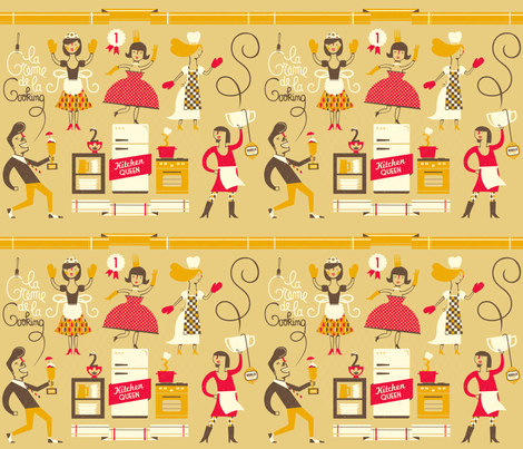Kitchen Queen fabric by lien_geeroms on Spoonflower - custom fabric