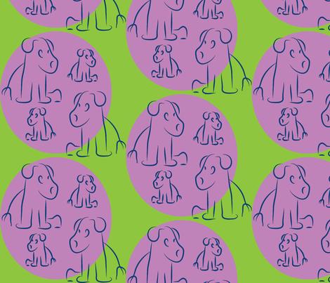Grape-Plum Pups-ch fabric by lesser_george on Spoonflower - custom fabric