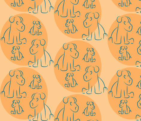 Pups by Southwest fabric by lesser_george on Spoonflower - custom fabric