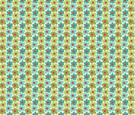 Tiny Flowers fabric by littlerhodydesign on Spoonflower - custom fabric