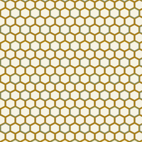 Honeycomb Tiles fabric by littlerhodydesign on Spoonflower - custom fabric