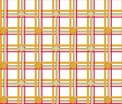Ice Box Diamond Plaid  - Retro Beige fabric by engravogirl on Spoonflower - custom fabric