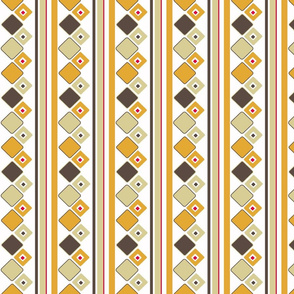 Ice Box Diamond Stripe - Retro Beige