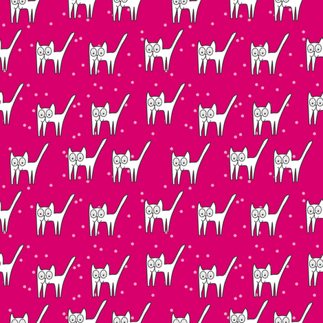 Cat Meaw Pink fabric by maedchenwahn_illustration on Spoonflower - custom fabric