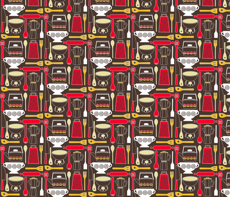Mom's kitchen fabric by theboutiquestudio on Spoonflower - custom fabric