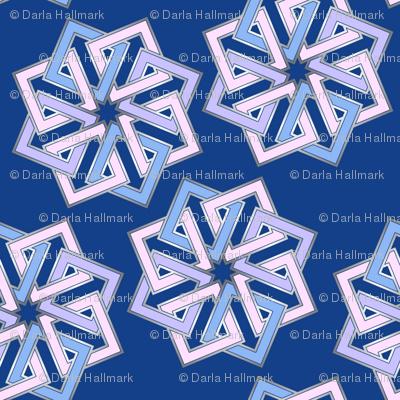 Shades of blue geometric