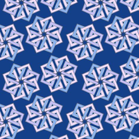 Shades of blue geometric fabric by hannafate on Spoonflower - custom fabric