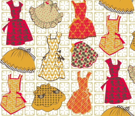 Dressed to Grill fabric by meredithjean on Spoonflower - custom fabric