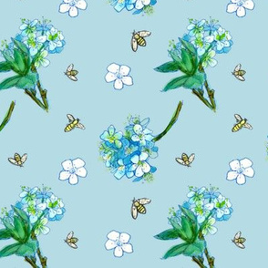 Baby Blue Blossom Bees