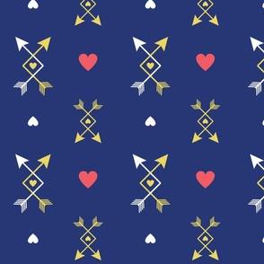 Criss Cross Arrows on Yellow
