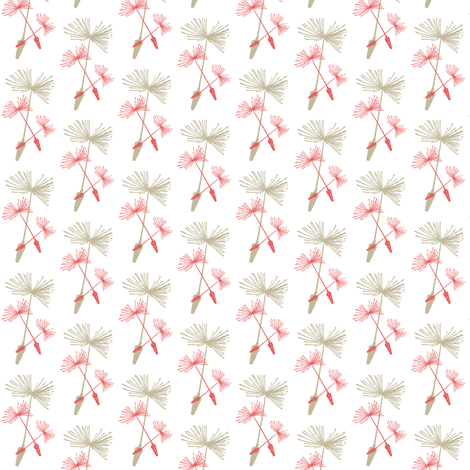 Dandelion Wine Coral fabric by brainsarepretty on Spoonflower - custom fabric