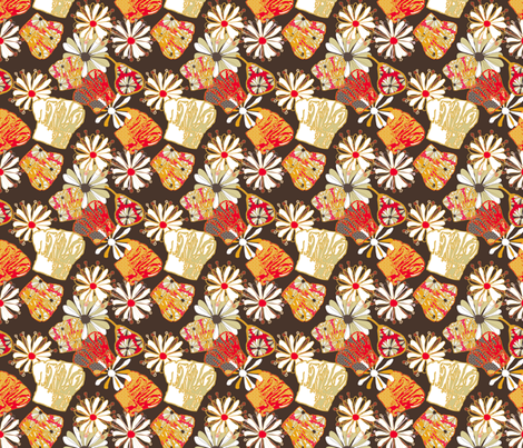 Funky Chefs fabric by lulabelle on Spoonflower - custom fabric