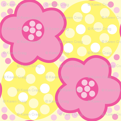 Summer Daisies w Dots