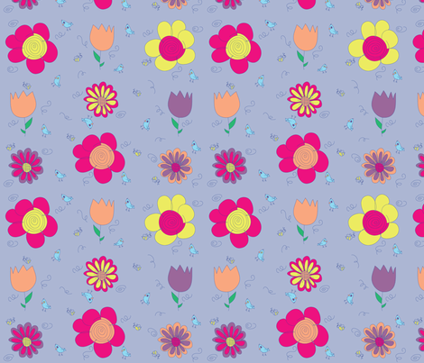 Flower-Fantasy fabric by sew_pretty_designs on Spoonflower - custom fabric