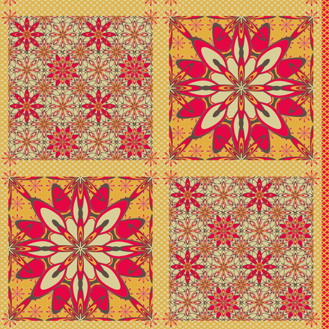 WildDaisey-Retro-Pads fabric by grannynan on Spoonflower - custom fabric