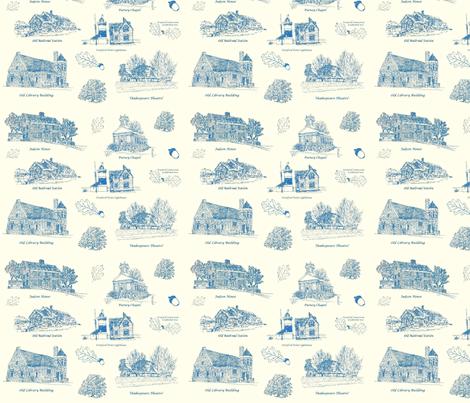 BlueCreamStratfordToile fabric by joofalltrades on Spoonflower - custom fabric