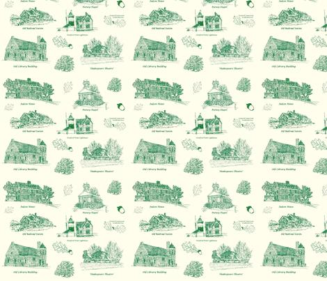 GreenCreamStratfordToile fabric by joofalltrades on Spoonflower - custom fabric