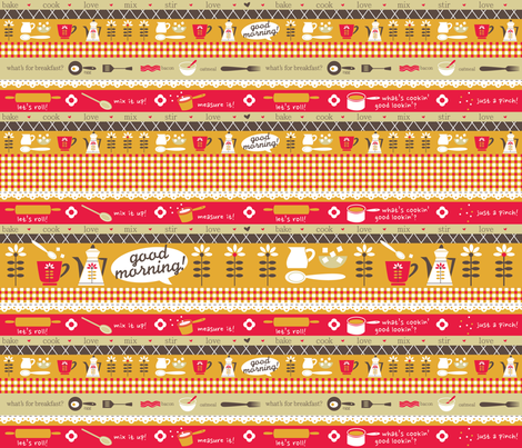 A Sunshine Kitchen fabric by cynthiafrenette on Spoonflower - custom fabric
