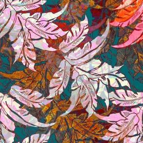 Leaves Barkcloth Memories