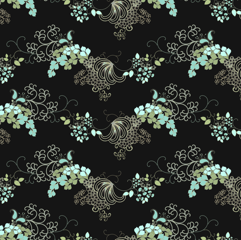 Flourish Civil War Era design fabric by joanmclemore on Spoonflower - custom fabric