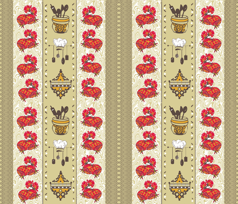 Classy Retro Kitchen fabric by createdgift on Spoonflower - custom fabric