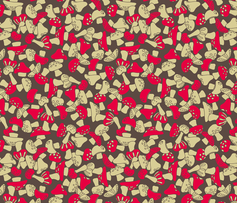 toadstools - red fabric by cheyanne_sammons on Spoonflower - custom fabric