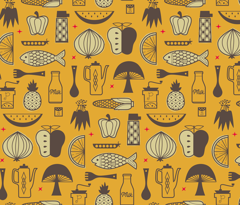 Mimi's Kitchen fabric by chris_jorge on Spoonflower - custom fabric
