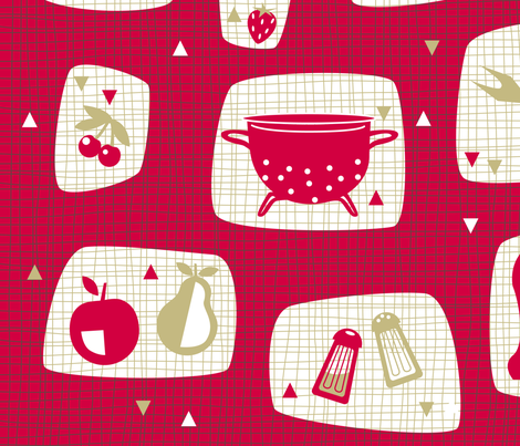 retro-kitchen fabric by miss_honeybird on Spoonflower - custom fabric