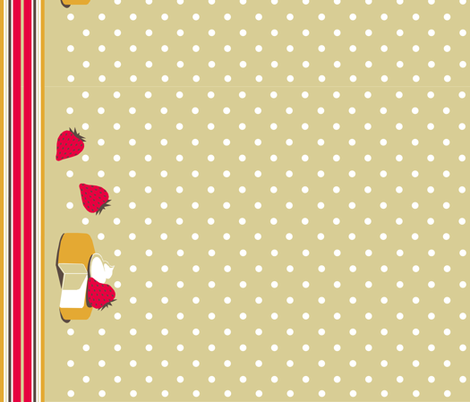 strawberry shortcake fabric by art_deco on Spoonflower - custom fabric