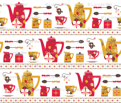 Retro Tea Party on the Shelf - © Lucinda Wei