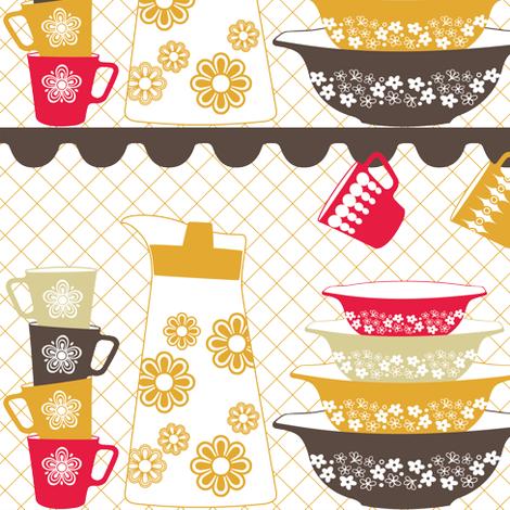 PYREX LOVE fabric by natasha_k_ on Spoonflower - custom fabric