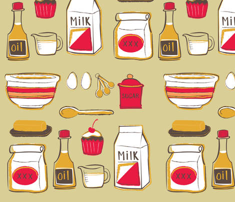 MartsRetroKitchen fabric by doreen_marts on Spoonflower - custom fabric
