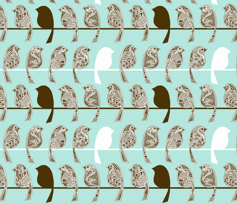 Henna Birds fabric by run_quiltgirl_run on Spoonflower - custom fabric