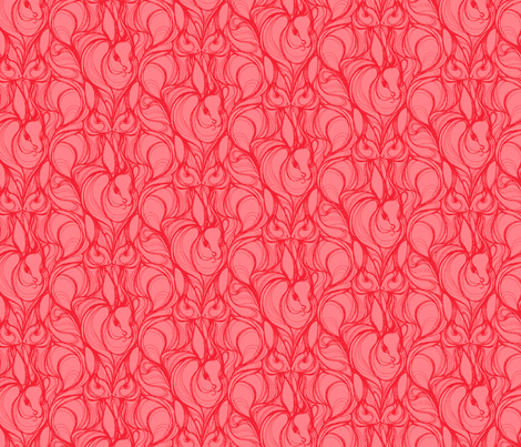 RABBIT RUN_VELVETEEN fabric by pattern_state on Spoonflower - custom fabric