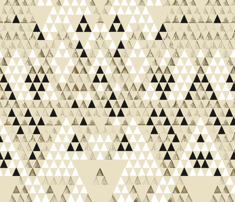 Triangle Standard fabric by pattern_state on Spoonflower - custom fabric