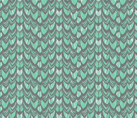 Arrow Tail_SPEARMINT fabric by pattern_state on Spoonflower - custom fabric