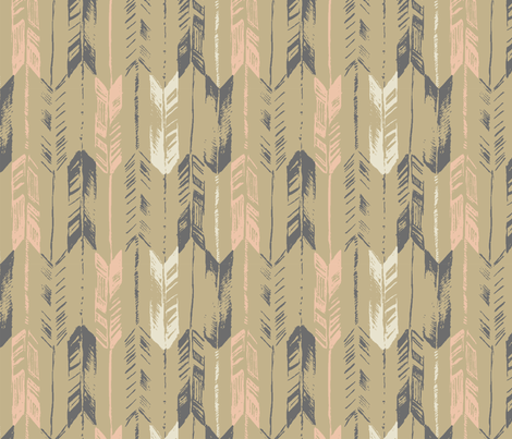 ARROW_LINE_NEUTRAL fabric by pattern_state on Spoonflower - custom fabric