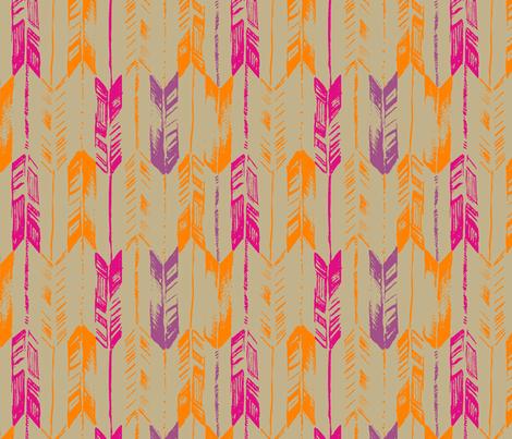 ARROW_LINE_TANGERINE fabric by pattern_state on Spoonflower - custom fabric