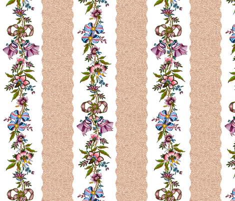 Rococo ribbons and flowers, c. 1785-1795 fabric by bonnie_phantasm on Spoonflower - custom fabric