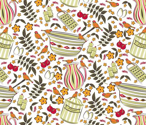 retro-kitchen2 fabric by lene_frid on Spoonflower - custom fabric