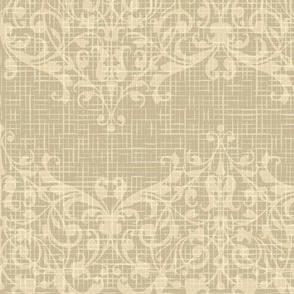 floral burlap pattern