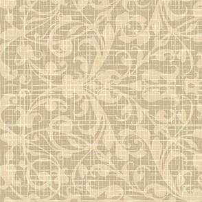 Floral linen pattern