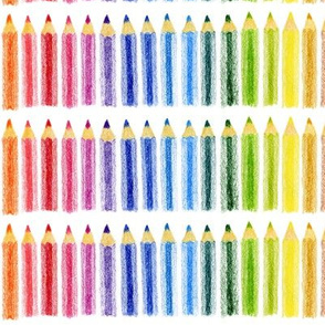 Coloured pencil horizontal stripe