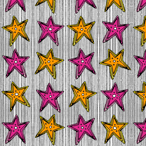 stars on stripes fabric by scrummy on Spoonflower - custom fabric