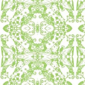 Flower Drawing White Grass Mirror