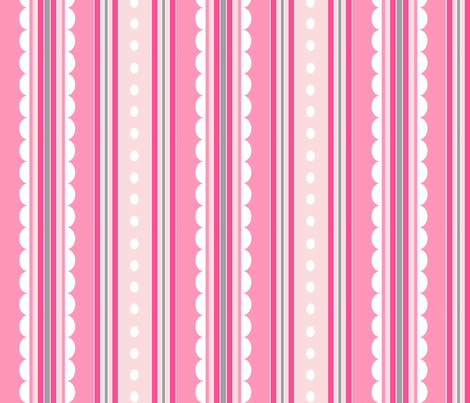 rayure rose M fabric by nadja_petremand on Spoonflower - custom fabric