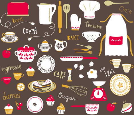 Teatime Treat fabric by poppy_&_red on Spoonflower - custom fabric