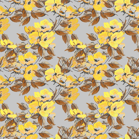 Rockabilly Rose in Yellow fabric by joanmclemore on Spoonflower - custom fabric