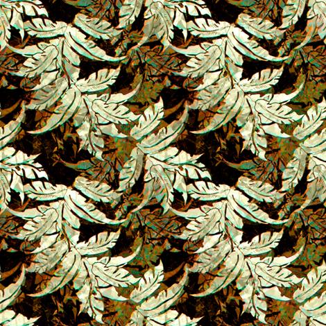 Bark Cloth Leaves  fabric by joanmclemore on Spoonflower - custom fabric